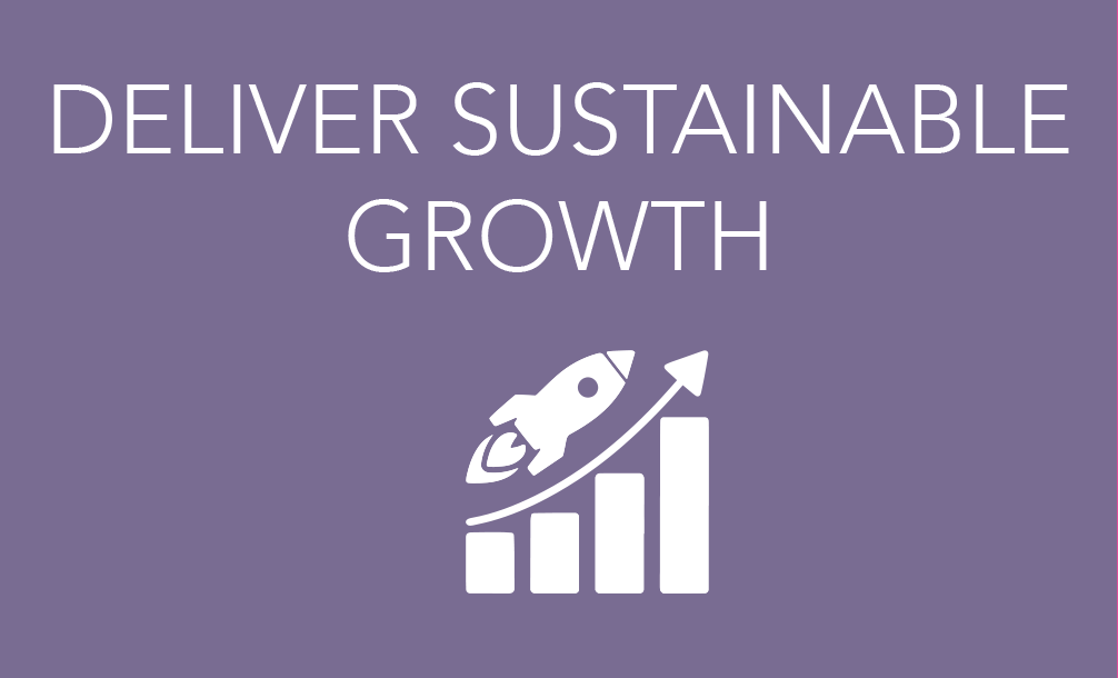 Deliver sustainable growth icon