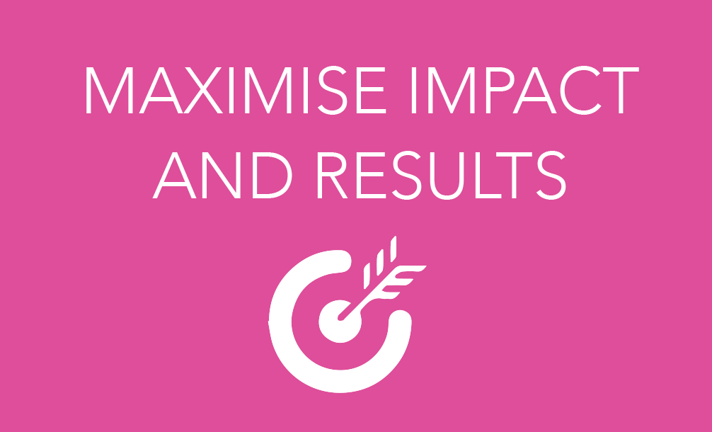 Maximise impact and results icon